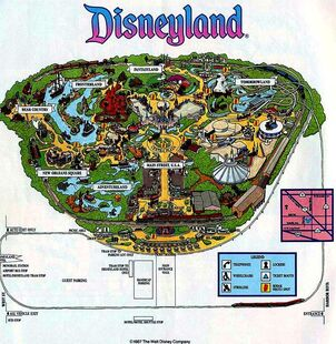 Disneyland 1987 Map