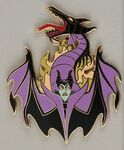 Maleficent-to-Dragon transformation pin