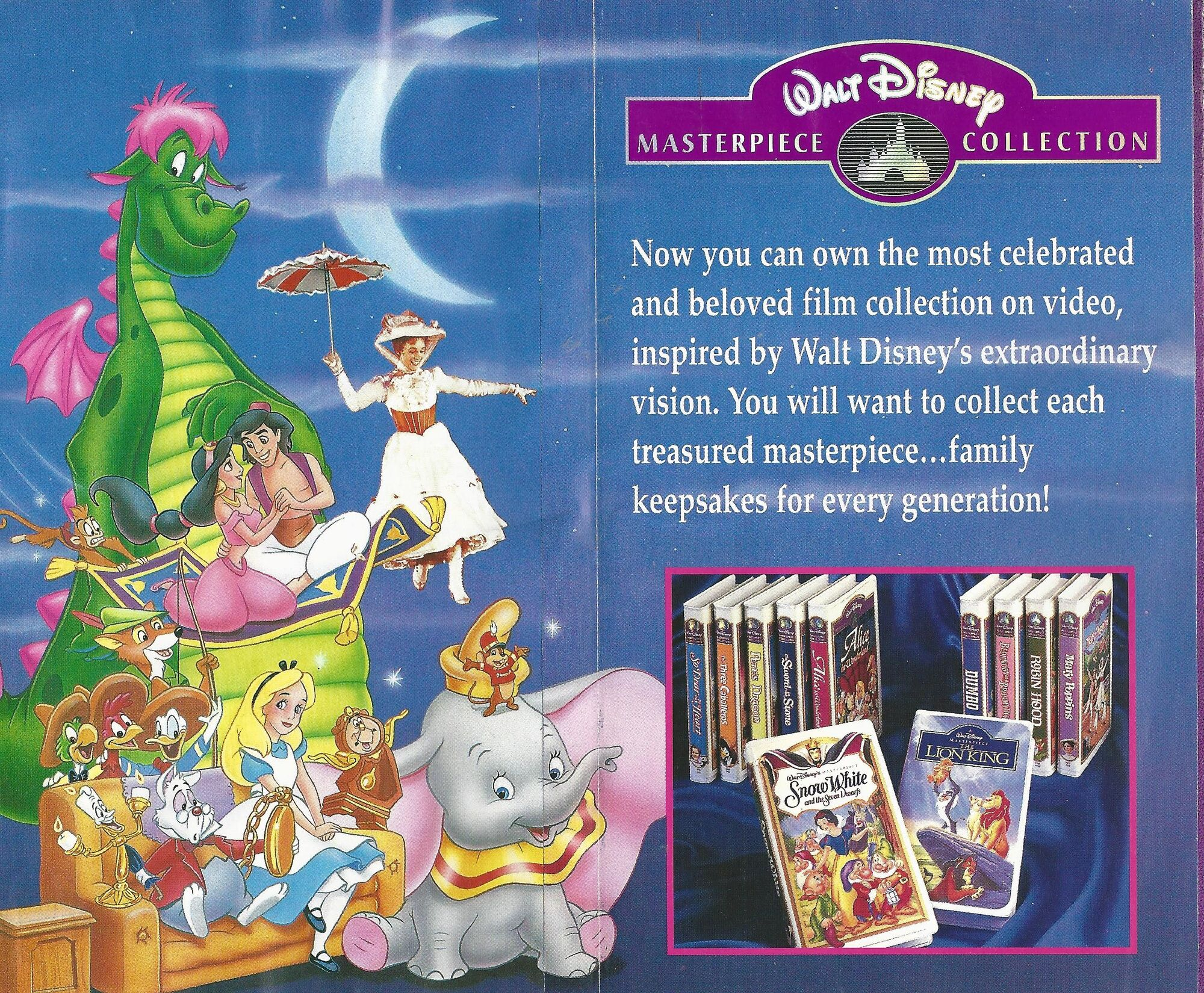 Image walt disney masterpiece collection 1995 for Classic house songs 2000