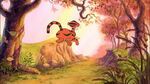 Tigger is bounceing off