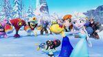 Elsa, Anna, and Vanellope against baddies