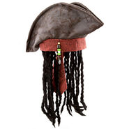 Pirates of the Caribbean Pirate Hat and Wig for Adults