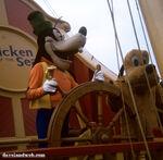 Goofy pluto on ship