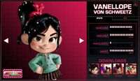 Vanellope's stats
