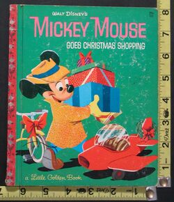 Mickey mouse goes christmas shopping lgb