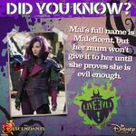 Descendants, Mal - Did You Know