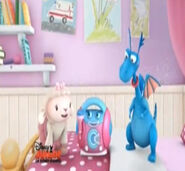 Lambie, stuffy and millie the microphone