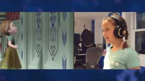 """Voices of Young Elsa & Anna"" Clip - The Story of Frozen Making a Disney Animated Classic"