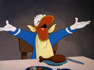 Donald being happy