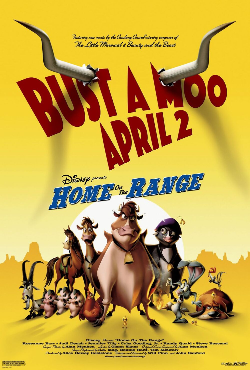 Image result for home on the range disney poster