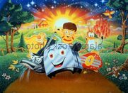 Lampy-radio-rob-toaster-blanky-kirby-the-brave-little-toaster-1987-BPD10Y
