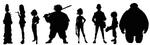 Big Hero 6 silhouette chart
