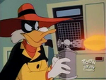Darkwing Duck disguised as Negaduck