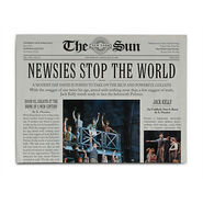 Newsies The Broadway Musical Program