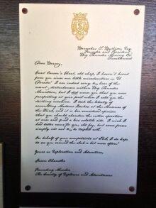 Jason Chandler letter