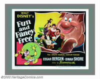 Fun and fancy free lobby card