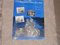 The ballad of davy crockett songbook