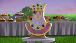 Place the gem on the crown