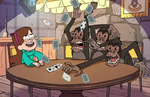 Mabel with apes