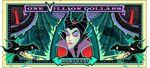 Maleficent's One Villain dollar bill