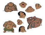 Maui character design sheet