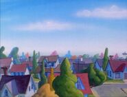 Goof Troop - Spoonerville Neighborhood - View from the Roof