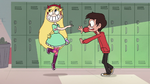Marco closing a locker