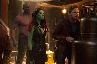 Star-Lord Drax and Gamora