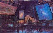 U S S Cygnus Command Tower Interior Concept Art by Peter Ellenshaw