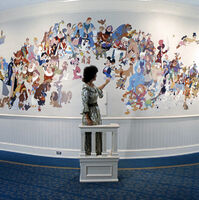 WDW-105A - Mural of Walt Disney Characters