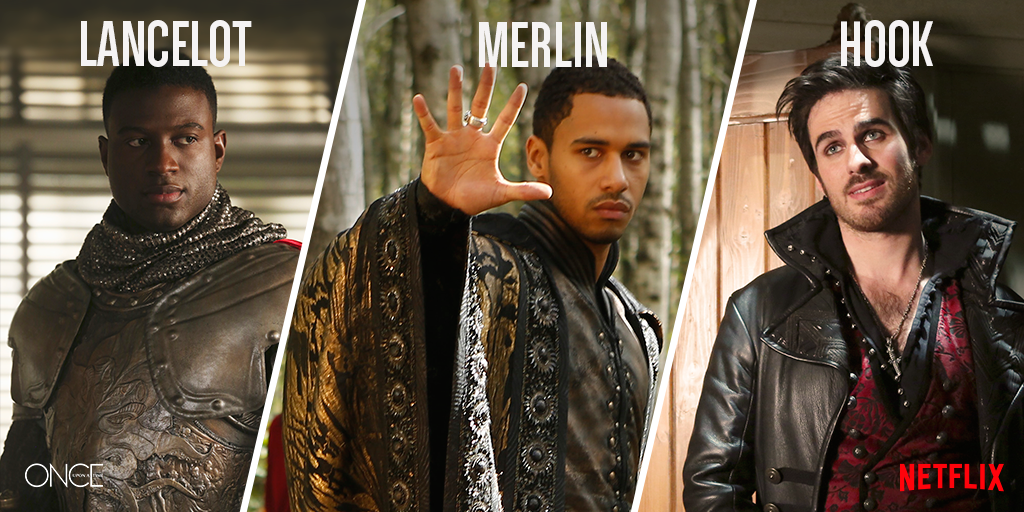 Image - Once Upon a Time - Lancelot, Merlin and Hook.png ...