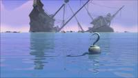 Hook dismantled