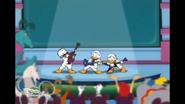 Quackstreet Boys performing to cheering crowd