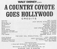 A Country Coyote Goes Hollywood credits