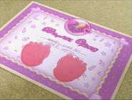 Cece McStuffins baby footprints