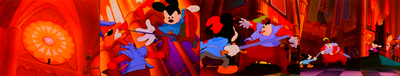 Prince Mickey's 'hat' - Animation Goof