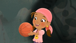 Izzy holding the Basket ball