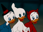 Huey Dewey and Louie in Halloween costumes