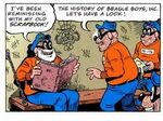 Grandpa Beagle and his scrapbook