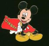 Oregon Mickey Pin