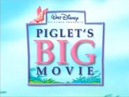 Disney's Piglet's Big Movie - Early Logo