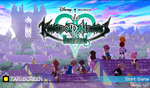 Kingdom Hearts Unchained X Title Screen