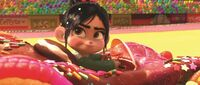 Vanellope in her Race Cart