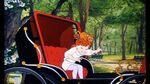 Jenny and Oliver in a horse carriage