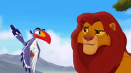 Simba smiles at Zazu