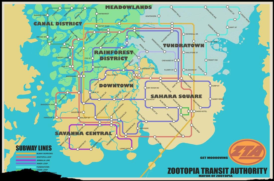 10.0 10.1 Zootopia Transit Map ...