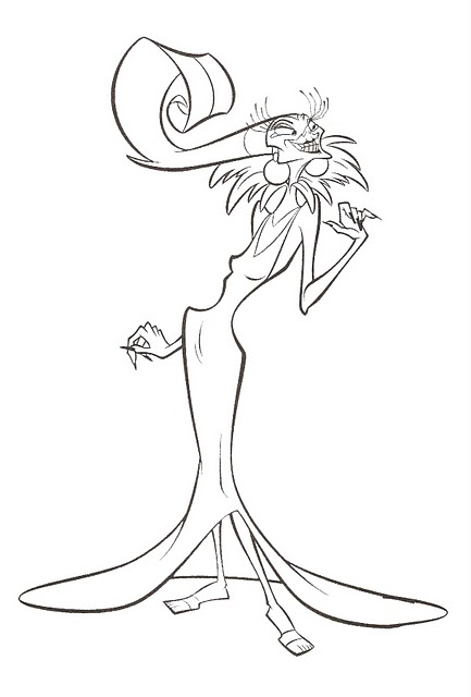 Image yzma coloring disney wiki fandom for Evil queen coloring pages