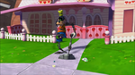 Animatronic Goofy vacuuming