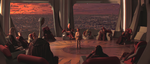 Anakin before the High Council Chamber