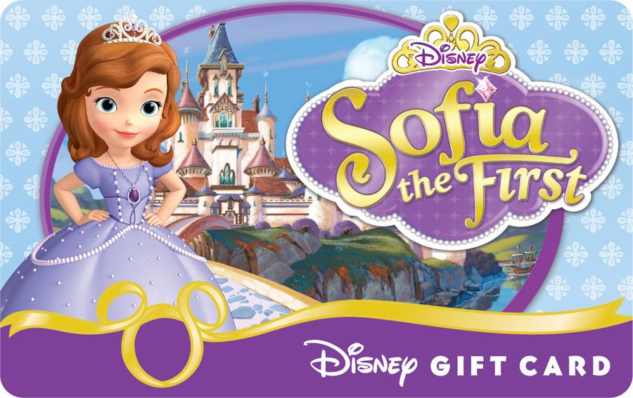 File Sofia the First Disney Gift Card jpg. Image   Sofia the First Disney Gift Card jpg   Disney Wiki